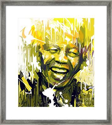 Nelson Rolihlahla Mandela Framed Print by Kegya Art Gallery