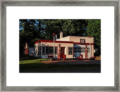 Nelsonville Phillips 66 Framed Print by Trey Foerster