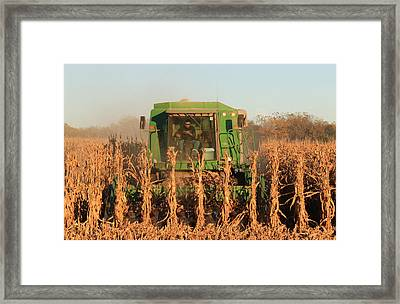 Nemaha Nebraska Corn Picker Framed Print