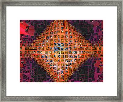 Nemesis Or Starburst Framed Print by Lynda Lehmann