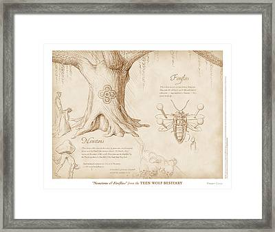 Nemetons And Fireflies Framed Print by Swann Smith
