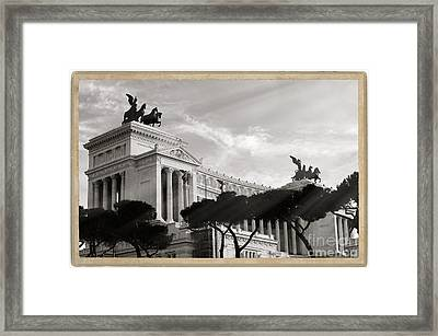 Neoclassical Architecture In Rome Framed Print