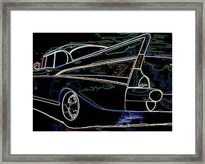 Neon 57 Chevy Bel Air Framed Print