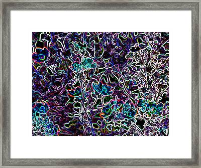 Neon Beauty Framed Print