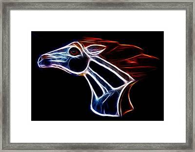 Neon Bronco II Framed Print