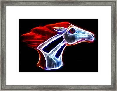 Neon Bronco Framed Print