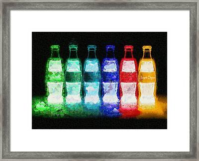 Neon-cola - Pa Framed Print by Leonardo Digenio