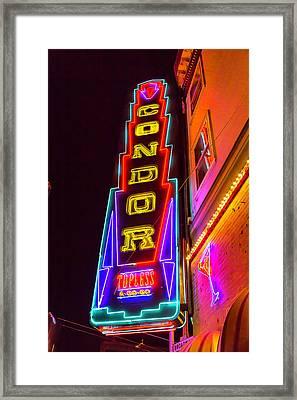Neon Condor San Francisco Framed Print