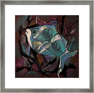 Neon Fish Framed Print by Deyana Deco