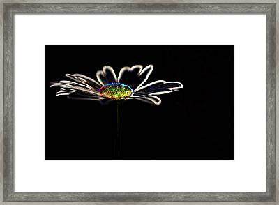 Neon Flower Framed Print