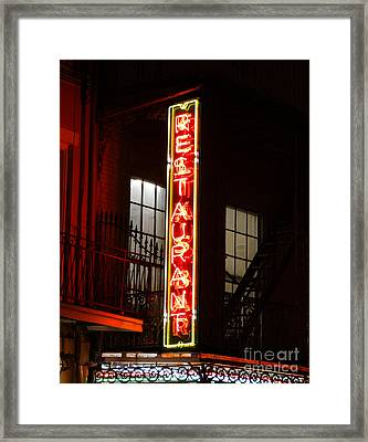 Neon French Quarter Framed Print by Joseph Baril