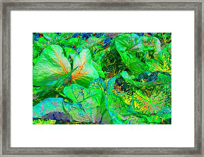 Framed Print featuring the photograph Neon Garden Fantasy 1 by Marianne Dow