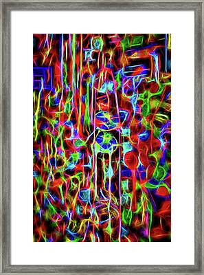 Framed Print featuring the photograph Neon Gum by Spencer McDonald