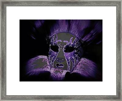 Neon Mardi Gras Framed Print
