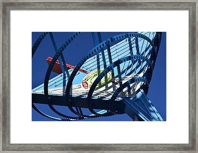 Neon Martini. Framed Print