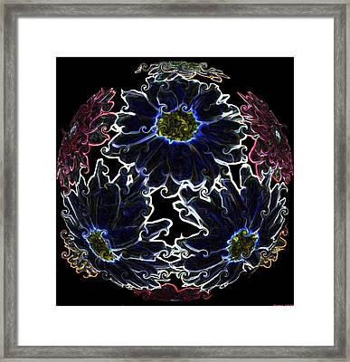 Neon Mums Framed Print by Evelyn Patrick