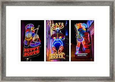 Neon Nashville Framed Print by Stephen Stookey