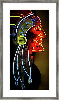 Neon Navajo Framed Print by David Patterson