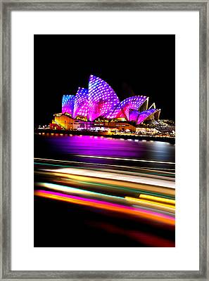 Neon Nights Framed Print
