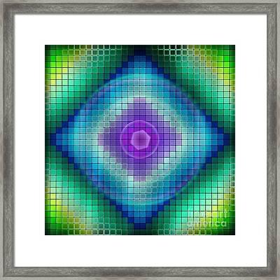 Neon P Framed Print