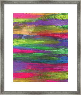 Neon Rainbow Framed Print