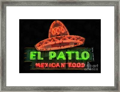 Neon Sign Series Mexican Food Austin Texas Framed Print by Edward Fielding