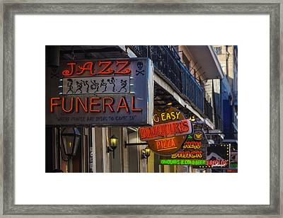 Neon Signs New Orleans Framed Print