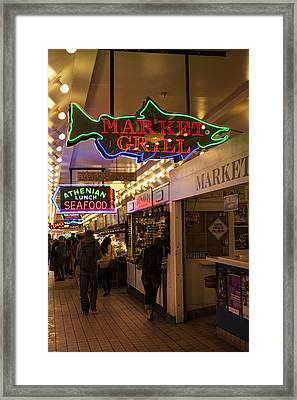 Neon Signs Framed Print
