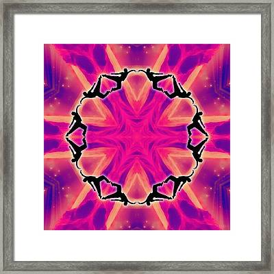 Framed Print featuring the digital art Neon Slipstream by Derek Gedney