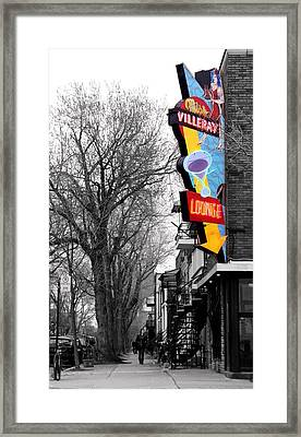 Neon Strip Framed Print by Russell Styles