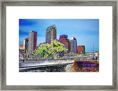 Neon Tampa Framed Print by Carol Groenen