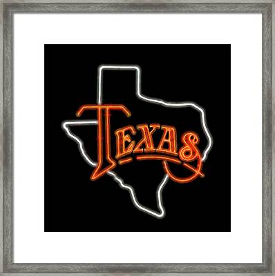Framed Print featuring the digital art Neon Texas by Daniel Hagerman