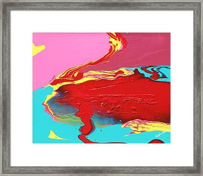 Neon Tide Framed Print