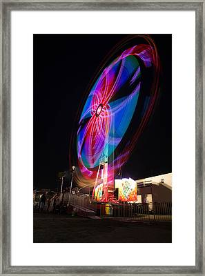 Neon Twirl Framed Print by Bryan Moore