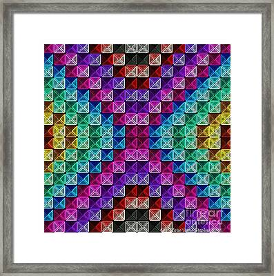 Neonbow Framed Print