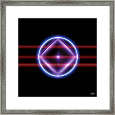 Neonesq Framed Print by Carl Perry