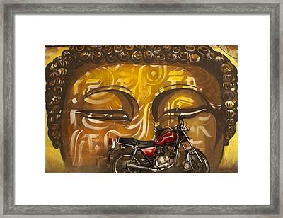 Nepal Buddha Framed Print