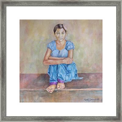 Nepal Girl 4 Framed Print by Marty Garland
