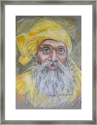 Nepal Man 6 Framed Print by Marty Garland