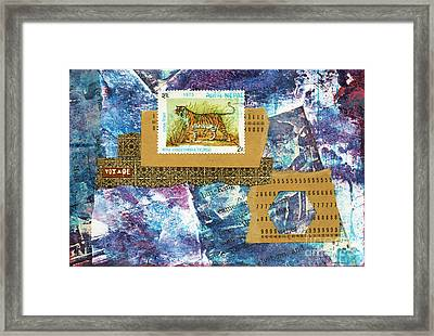 Nepal Tiger Framed Print