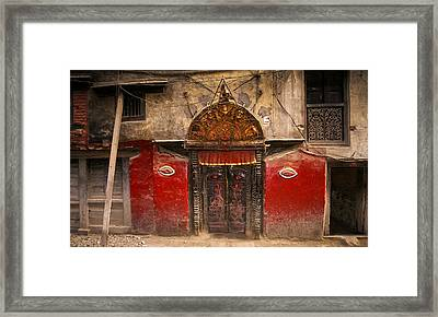 Nepalese Door Framed Print