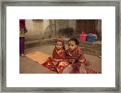 Nepalese Tradition Framed Print