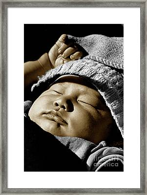 Nepali Baby  Framed Print by Craig Lovell
