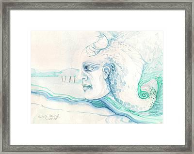 Neptune Framed Print by Amrei Al-Tobaishi-Jarosch