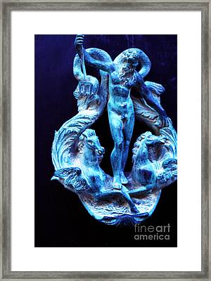 Neptune Door-knocker Framed Print
