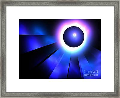 Neptune Eclipse Framed Print by Kim Sy Ok
