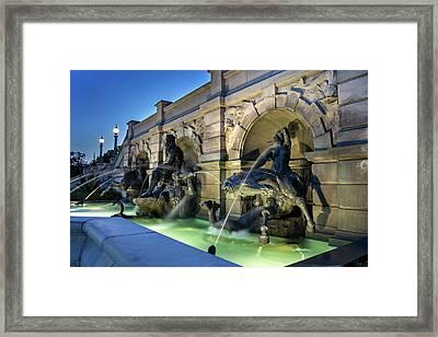 Neptune Fountain Framed Print