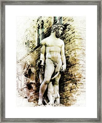 Neptune In Florence Framed Print