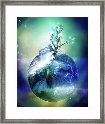 Neptune Framed Print by Mary Hood