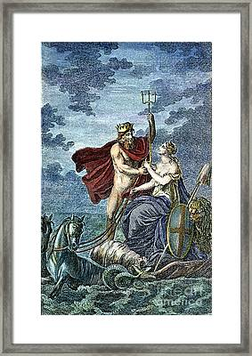 Neptune, Roman God Of Sea Framed Print